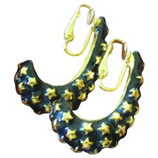 Kenneth Lane enameled earrings