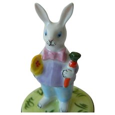 Lovely fine Porcelain  Limoges rabbit box