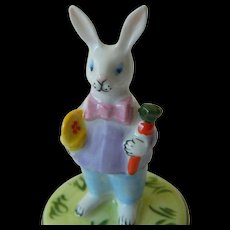Lovely fine Porcelain  Limoges rabbit box