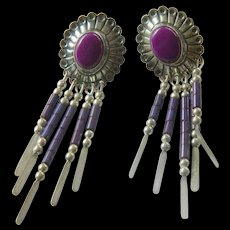 Stunning silver Southwest earrings