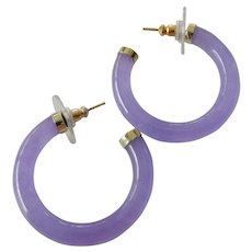 Lavender jade -14k. earrings-SALE!!!