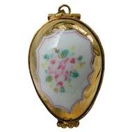 Limoges fine porcelain egg pendant