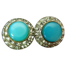signed-Lisner-jeweled earrings