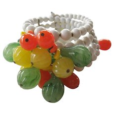 Wonderful Miriam Haskell fruit bracelet.