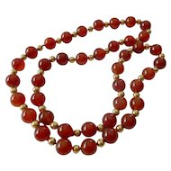 Carnelian bead necklace