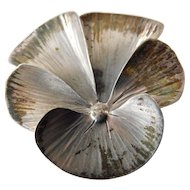 Sterling pansy pin
