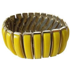 Expandeable metal panel bracelet-1950-1960's