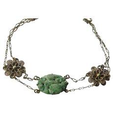 Vintage silver-jade-bracelet