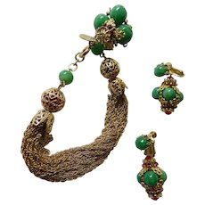 Vendome earrings and bracelet