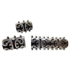 Mexican sterling pin with earrings