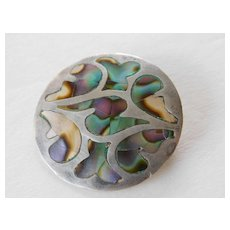 Vintage sterling-abalone - Mexican pin