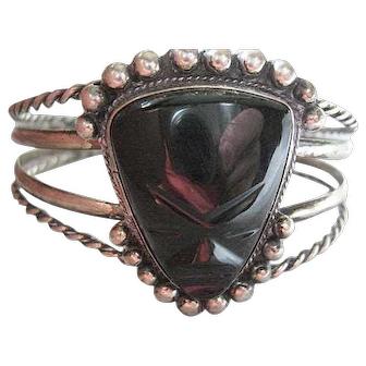 Mexican sterling with black onyx bracelet