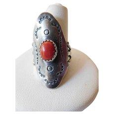 Sterling-coral -South west ring
