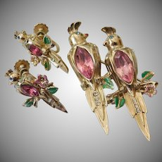 "Vintage ""Coro"" duette pin with earrings"