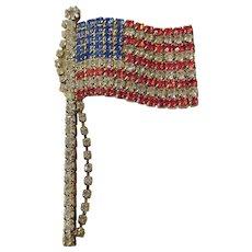 Brilliant American flag pin