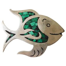 sterling silver- Mexican fish pin