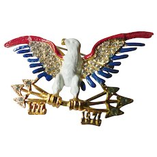 Enameled-jeweled Eagle pin-1776-1976