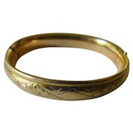Gold plated 1900-bangle bracelet