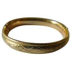 Gold plated 1900-bangle bracelet