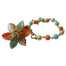 Glass beads bracelet-Vintage