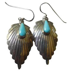 Native American -silver-turquoise earrings