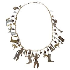 Cowboy & Indians theme necklace