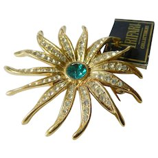 Trifari sun burst pin