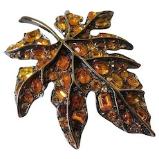 Autumn leaf pin-Kenneth J. Lane