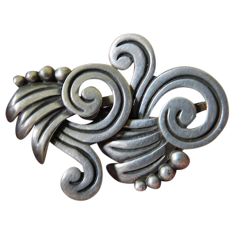 Fine Mexican sterling designer earrings- Vintage