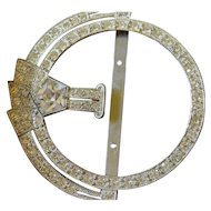 Deco jeweled sash buckle