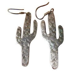 Mexican sterling signed artists earrings