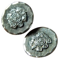 Vintage-Mexico sterling cuff links