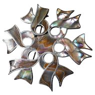 Gorgeous abalone inlay-sterling pin-Mexico