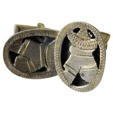 Sterling -Mexico Vintage cuff links