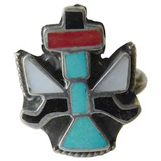 Zuni pueblo inlay ring