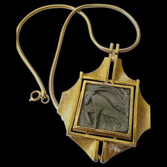 Razza-zodiac pendant with chain