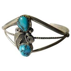 Running Bear-Navajo turquoise-sterling bracelet