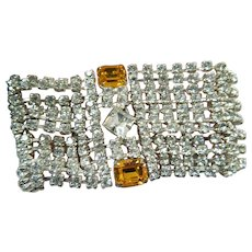 Dazzling 1950's rhinestone bracelet