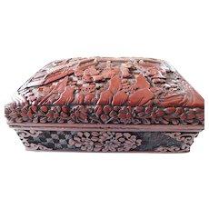 Vintage cinnabar box
