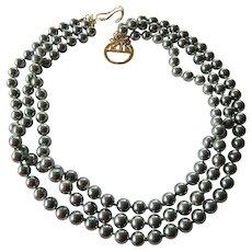 Kenneth J. Lane-KJL three strand necklace