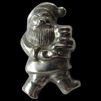 Silver Santa -pin/pendant