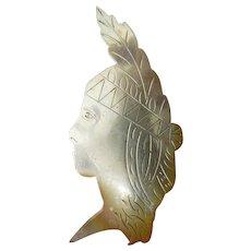 Silver Indian head pin