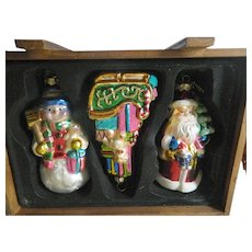 Boxed -large glass tree ornaments-glass