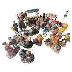 Snow village figures-fall items