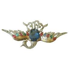 Alfred Philippe design-Fire bird pin-1940
