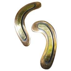 Mid century copper earrings