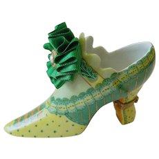 "Limited edition Limoges ""shoe"" trinket box"