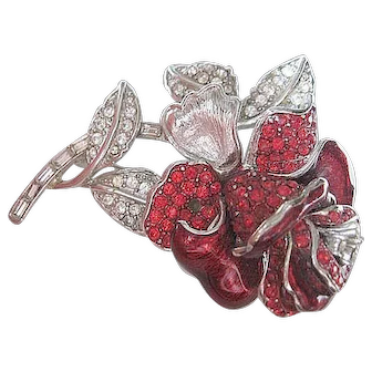 """The Rose""- Nolan Miller pin"