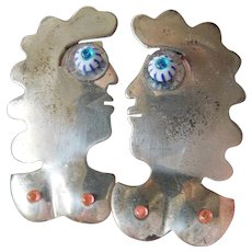 Artists made-silver earrings