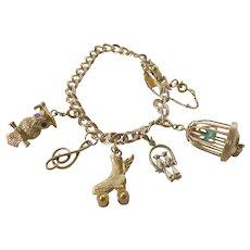 Vintage-Monet link/charm bracelet